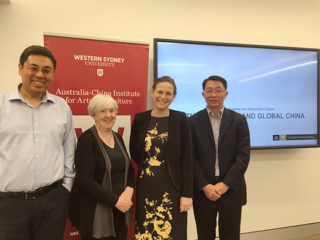 Image of Lucy Montgomery with Xiang Ren plus two other people