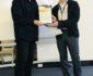 John Kinsella recieving Niall Lucy Award