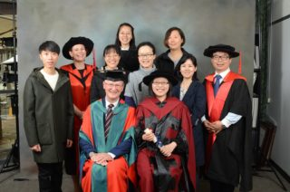 He Zhang, her family and PhD supervisors together
